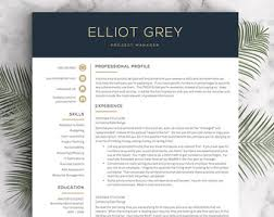 download professional cv template resume template etsy