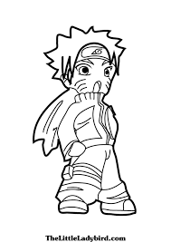 Free Anime Naruto Coloring Page Thelittleladybirdcom
