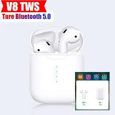<b>V8 TWS Wireless</b> Bluetooth Earphone In-ear Double V5.0 <b>Wireless</b> ...