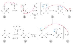 chemistry solution carbonyl compound halogenation mechanism sample 1