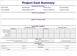 Cash Flow Summary Template Project Cost Summary Template Blue Layouts