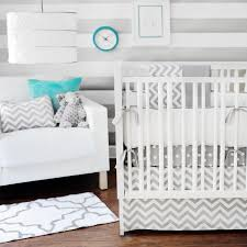 image of modern nursery bedding chevron