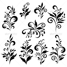 Silhouette Patterns Simple Abstract Floral Patterns Silhouettes By Alexcoolok GraphicRiver