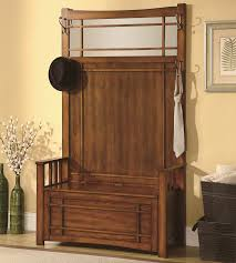 Hall Seat Coat Rack Mudroom Front Foyer Bench Black Hallway Bench Entryway Bench With 69