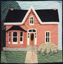 need to make semi-realistic quilt of my house before we move ... & Featured Quilt Pattern of the Month ~> This Victorian House quilt pattern  was designed as a simplified version of my pictorial quilts. Adamdwight.com