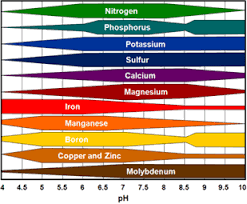 Chart Relative Availability Of Plant Nutrients By Soil Ph