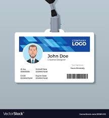 Badge Office Blue Office Id Badge Design Template