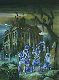 disneyland haunted mansion hitchhiking ghosts original fall 1974 disney news cover comic art