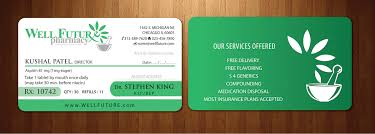 pharmacy design company elegant playful pharmacy business card design for a company by