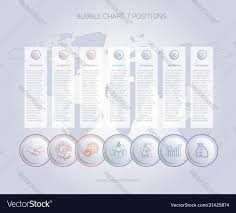 Infographics Color Bubble Chart Template For 7