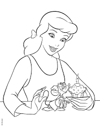Princess Cinderella Coloring Pages For Kids New Bitsliceme
