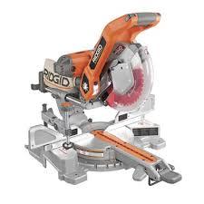 ridgid tools saw. 10\u201d sliding dual bevel miter saw with laser guide | ridgid professional tools ridgid -