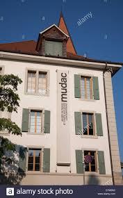 Design Museum Switzerland Mudac Design Museum Lausanne Switzerland Europe Stock