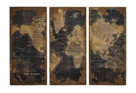 map of decor world map wood wall panels diy art steel maps decoration usa