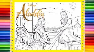 Aladdin cartoons coloring pages it is not education only, but the fun also. Disney Aladdin Live Action Coloring Page Prince Ali Princess Jasmine Youtube