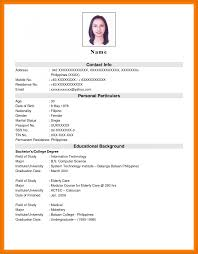 Job Application Resume Example Examples Of Resumes