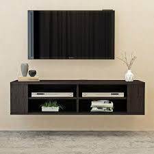 details about modern floating wall mounted tv stand unit cabinet media center shelf storage my