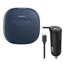 bose soundlink blue. bose soundlink micro midnight blue speaker w/ iottie car charger kit soundlink
