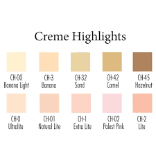 Ben Nye Color Chart Ben Nye Creme Highlights