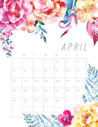 Free Printable April Calendar 2020 Free Printable 2020 Floral Calendar The Cottage Market