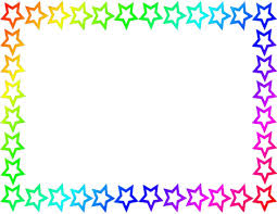 Small Picture Rainbow Star Border Page cakepinscom grad Pinterest Rainbow