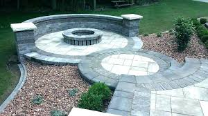 round brick fire pit circle shaped patio with building a square bri