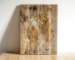wooden wall decor ideas beautiful modern wood lovely fingerprint art carved hanging for mount mailbox with