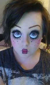 creepy doll face make up for or costume party the betty boop look