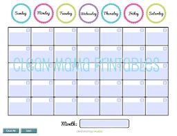 Editable Blank Calendar Template