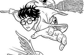 Small Picture Harry Potter Quidditch Coloring Page Free Harry Potter Coloring