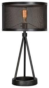 Livingstone 1-Light Table Lamps, Black industrial-table-lamps