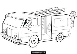 Fire Truck Sheet Free Printable Coloring Pages For Kids With