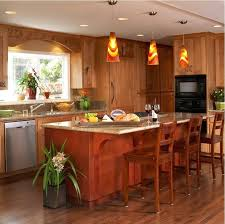 wooden kitchen fancy pendant lights hanging over island height to hang above