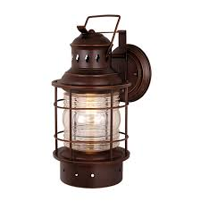cascadia lighting nautical 18 in h burnished bronze outdoor wall light