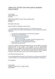 ex job seeking letter sle inspiration