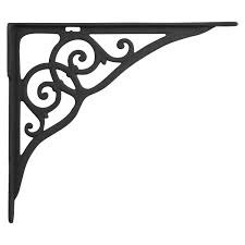 large shelf brackets. Contemporary Large Ringlet Motif Large Iron Shelf Bracket  Black Powder CoatWith A Mirrored  Ringlet Motif This Shelf Bracket Adds Simple Beauty To Any Room On Brackets R