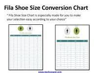 Fila Sandals Size Chart Fila Footwear Size Chart Sale