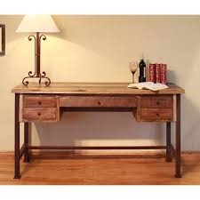 Office desk stores Traditional Office Brandamplifyco Two Tone Brown Small Office Desk Antique Rc Willey Furniture Store