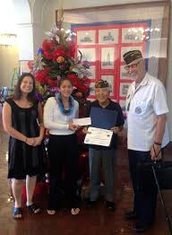 myron b thompson academy congratulations to kira gatiuan for winning first place at the post level for the veterans of foreign wars voice of democracy competition her essay and