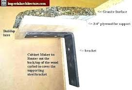 granite brackets support home depot grabbers dishwasher mounting bracket for sat fish worktop attaching to end