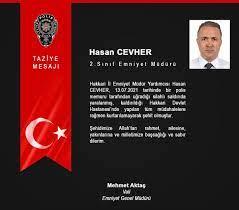 """Çiğdem KARAASLAN🇹🇷 on Twitter: """"Görevi esnasında uğradığı menfur saldırı  sonucu şehit olan Hakkari İl Emniyet Müdür Yardımcısı Hasan Cevher'e Yüce  Mevla'mdan rahmet, kederli ailesine, yakınlarına, Türk Polis Teşkilatımıza  ve Aziz Milletimize başsağlığı"""
