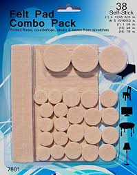 felt pads 38 pack various sizes self stick heavy duty chair floor protectors