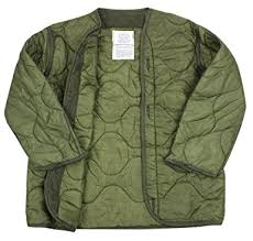 Amazon.com: US Army Military M-65 Field Jacket Quilted OD Olive ... & US Army Military M-65 Field Jacket Quilted OD Olive Drab Green GI Coat Liner Adamdwight.com