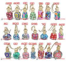 How To Decorate Perfume Bottles 100ml Mixed StylsColors Car Hang Decoration Ceramic Essence Oil 69