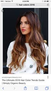 Brown Ombre Balayage Hairstyle Long Wavy