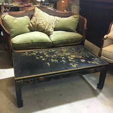 reference number signed french coffee table chinoiserie red