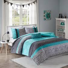 mi zone camille 3 piece teal twin twin xl print comforter set