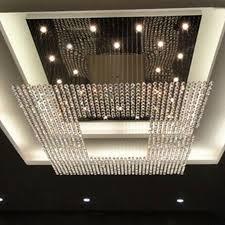 new square modern string big crystal chandeliers hotel lobby regarding latest big chandeliers gallery 4