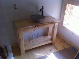 vessel sink base. Modren Base Custom Made Rustic Pine Vanity With Vessel Sink In Base A