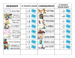 behavior charts for preschoolers template gaels crafty treasures good behavior chore chart for the kids